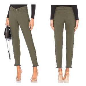 Chaser Canvas Frayed Lace Up Freda Utility Pants